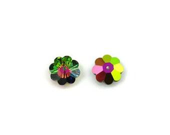 6 Vitrail Medium Swarovski Crystal Marguerite Flower 3700 spacer beads Available in 6mm 8mm 10mm