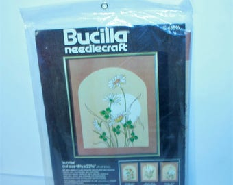 "Vintage Bucilla Needlecraft Kit 48516 Sunrise 18.5"" x 22.5"" Sealed Made in the USA!"