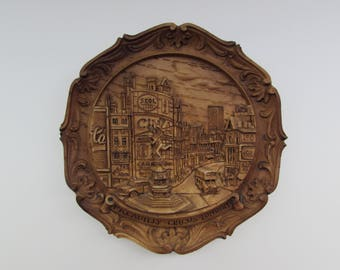 Cast Resin Wall Plaque Piccadilly Circus - London, Vintage Cast Resin Wall Plaque, Piccadilly Circus Wall Plaque, Wall Plaque
