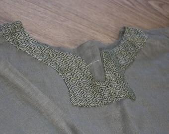 Green linnen dress