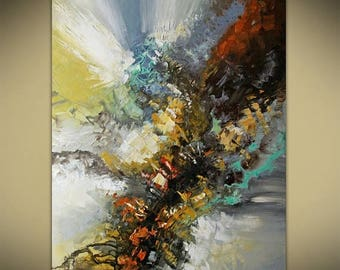Abstract Painting, Original Abstract, Landscape Painting, Modern Textured Palette Knife by Lana Guise