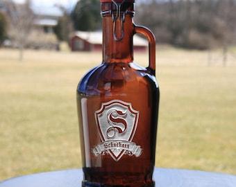 German Beer Growler, Engraved