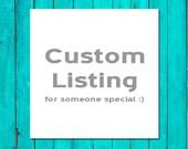 Custom Listing for Wedding Invitation and Enclosure Card Printing