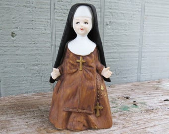 Lefton Franciscan Nun Figurine made in Japan 4 1/2""