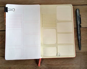 Bullet Journal Stencil. Planner Stencil. Daily Page Layout.