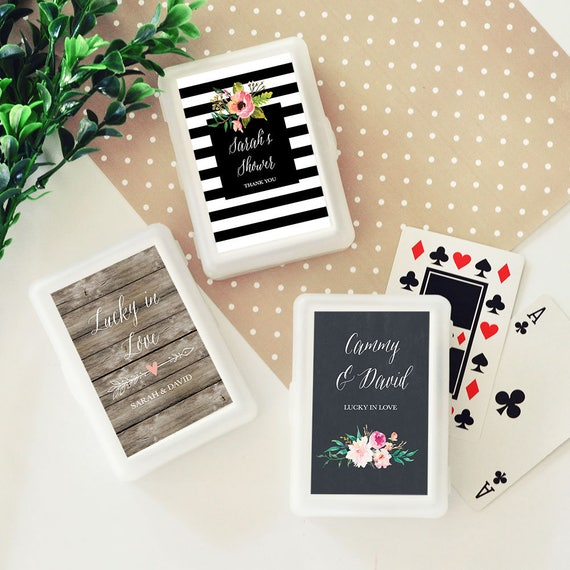Personalized Playing Cards Wedding Deck Of