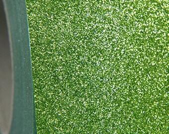 "Glitter Light Green 20"" Heat Transfer Vinyl Film By The Yard"