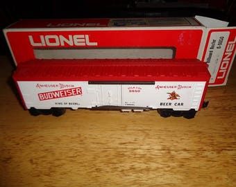 Lionel Budweiser Beer refrigerated boxcar from 1973 unused in the box.,hard to find