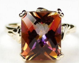On Sale, 30%Off, Twilight Fire Topaz, 14KY Gold Ring, R188