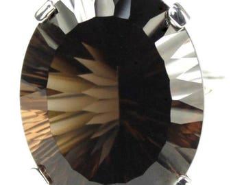 On Sale, 30% Off, Smoky Quartz, 925 Sterling Silver Ring, SR129