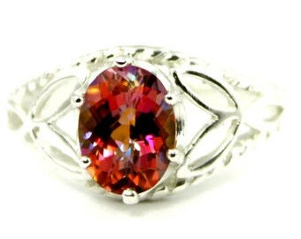On Sale, 30% Off, Twilight Fire Topaz, 925 Sterling Silver Ring, SR137