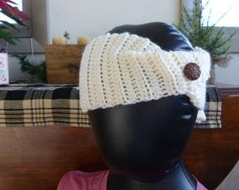 Crocheted Headband with Mittens