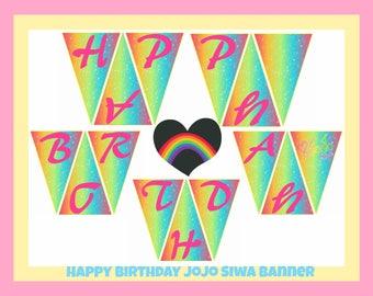 Jojo Siwa banner, printable, download, diy, party favors