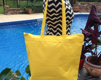 Large Yellow Recycled Materials Tote