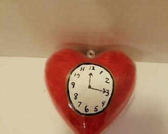Wizard of Oz Tin Man Inspired Heart Clock Ornament