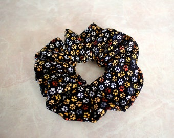 Mini Paw Print Hair Scrunchie 100% Cotton