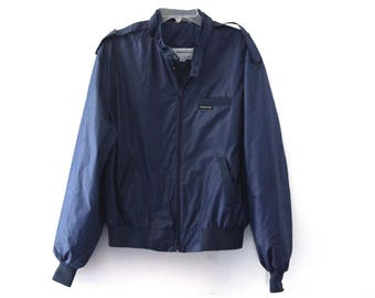Vintage 80s Members Only jacket navy blue