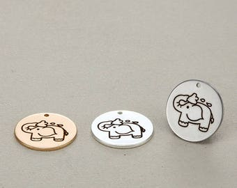 5pcs 20mm stainless steel Elephant Charms Pendants-animals charm