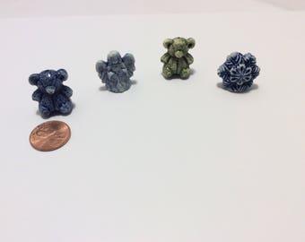 Stoneware Set of 4 Christmas  mini figures