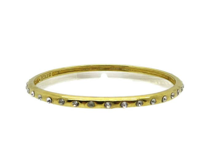 Rhinestone Skinny Bangle, J Crew Goldtone Bangle, Rhinestone Studded Bracelet, FREE SHIPPING