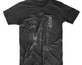 Ithaca Shotgun Patent T Shirt, Gun Enthusiast, Hunter Gifts, Hunting T-shirt, PP0074
