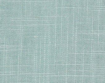 Cool Blue Cotton Slub Upholstery Fabric Blue Cotton Curtain Material Solid Color Upholstery Fabric