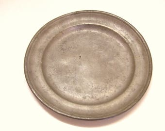 Antique Pewter Plate 8.5 Inches 19th Century