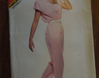 Butterick See and Sew 5642, sizes 12-16, jumpsuit, UNCUT sewing pattern, craft supplies