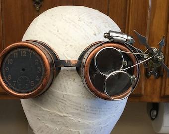 Steampunk Gears Vlock Goggles