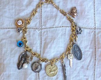 Golden Talisman Charm Bracelet