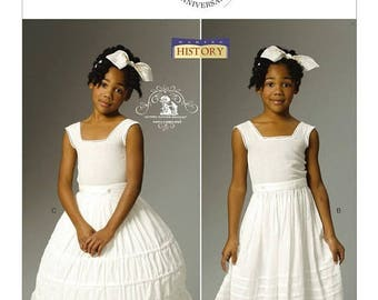 OOP, 5901, Butterick, Girls, Historical Costume, Civil War, Victorian, Steampunk, Drawers, bloomers, Underskirt and Hoop Skirt, dress up