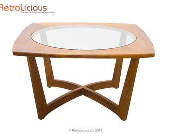 Danish Teak & Glass Coffee Table Retro Mid Century Living