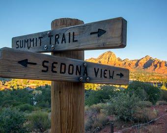 Sedona Arizona Airport Mesa Trailhead sign