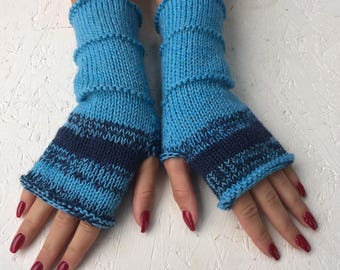 new Knit Fingerless gloves Mittens Long Arm Warmers Boho Glove Women Fingerless Christmas gift Wrist long arm warmers Ready to ship!