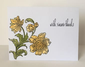 Garden Fresh-Floral Thank You Card for All Occasions