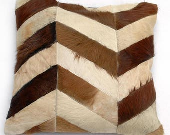 Natural Cowhide Luxurious Patchwork Hairon Cushion/pillow Cover (15''x 15'')a242