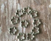 Knitting stitch markers small metal squares - light for lace knitting - set of 10