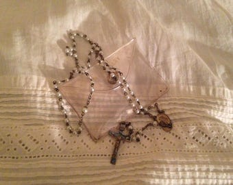 Vintage Rosary With Case