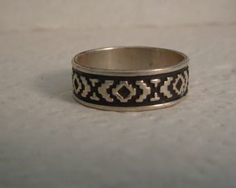 Sterling Silver Band Ring - size 11 1/4
