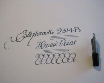 Esterbrook  2314-B Renew Point Fountain Pen Nib - Relief Broad Stub