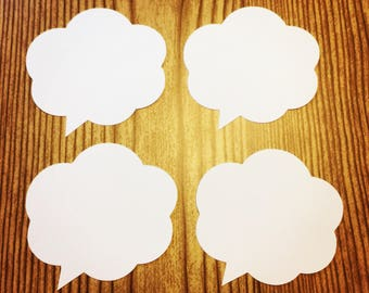 Speech Bubble (Various Sizes and Colors Available)- Fast Shipping