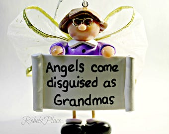 Grandmother Ornament/Grandma Ornament/ Granny ornament /Christmas Grandma  Ornament/  Grandmother Gift /Stocking Stuffer