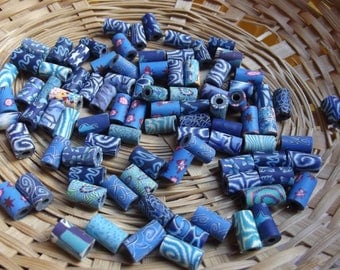 Blue mixed color No. 20 beads 7mm to 11mm x 20 tubes has