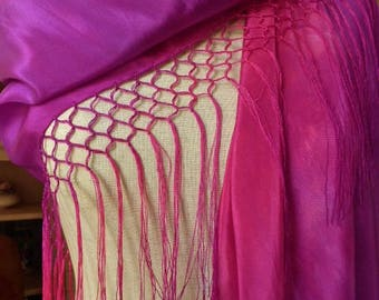 Silk Shawl with Fringe