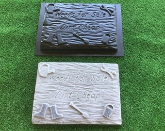 Weeds For Sale Dirt Cheap. — Sign Plaque Mould