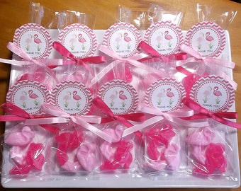 Flamingo Party Favors - Pink Flamingo Favors, Florida, Flamingo Party Decor, Flamingo Bridal Shower, Flamingo Baby Shower - Set of 15