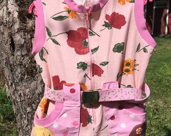 Strawberry Shortcake overall, GIrls overall, Pinky overall, Sewing overall for girls, Summer overall, Holiday clothes, Handmade overall