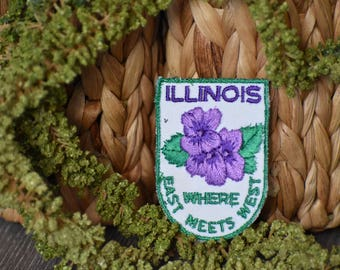 Vintage Illinois Travel Patch