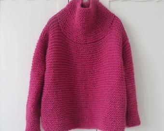 Chunky Knit Jumper /Wool Knitwear/ Cozy Knitwear / Pink / Wool Sweater /Wool Jumper/