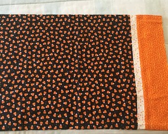 Halloween Pillowcase with Candy Corn